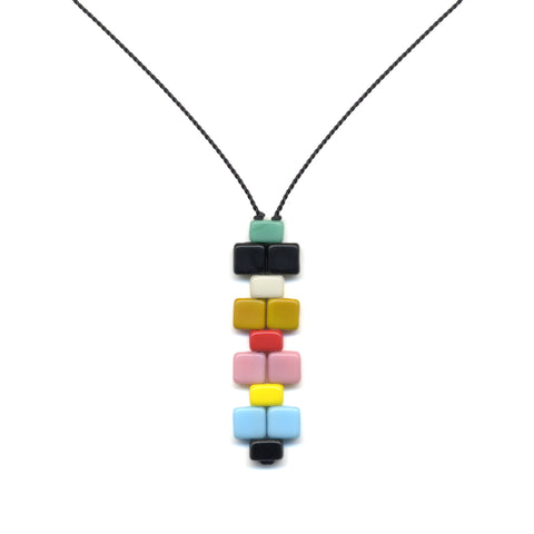 60's Mosaic Pendant Necklace