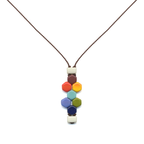 Hexagon Tablet Necklace