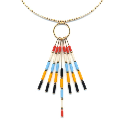 Multi Tassel Pendant Necklace