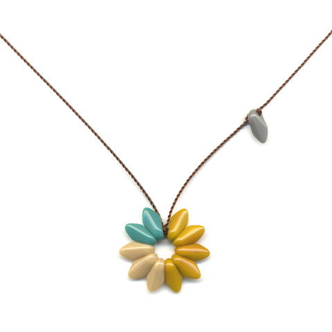Small Sunflower Pendant Necklace