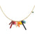 Rainbow Bugle Pendant Necklace