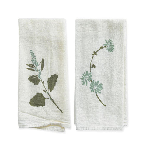 Lambs Quarters & Chicory Napkin Set