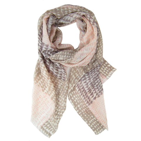 Ombre Geo Print Scarf