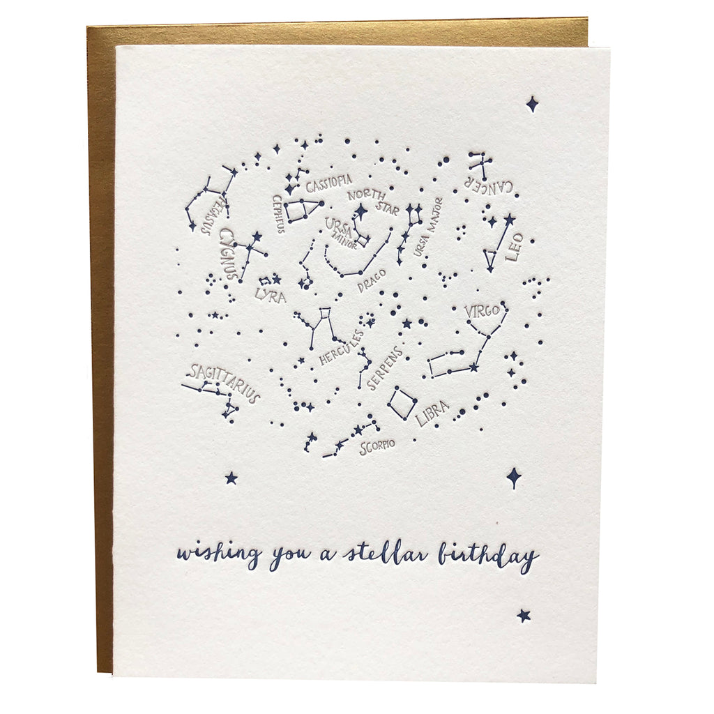 Constellations Birthday Card