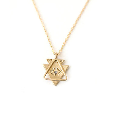Spirit Eye & Triangle Necklace
