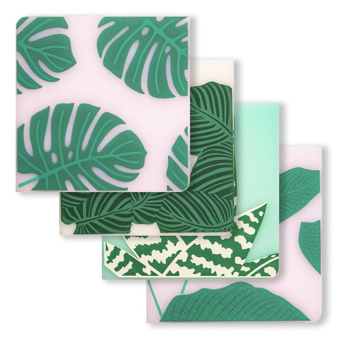 Jungle Plants Coaster Set