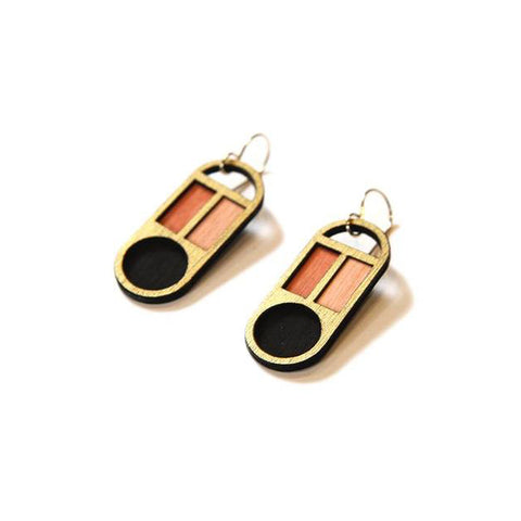 Gold Mod Earrings