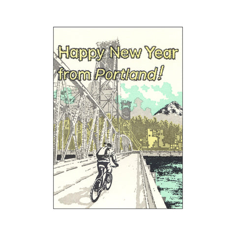 Happy New Year Portland Card