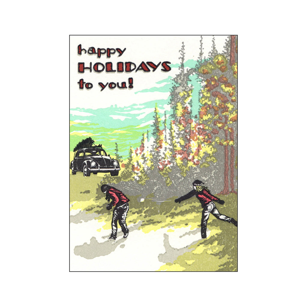 Holiday Snowball Fight Card