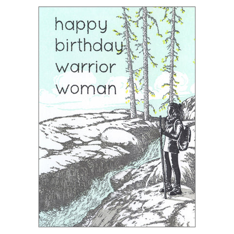 Warrior Woman Birthday Card