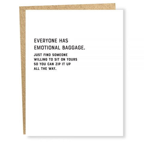 I Declare: Emotional Baggage Card