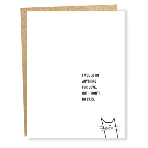 Won't Do Cats Card
