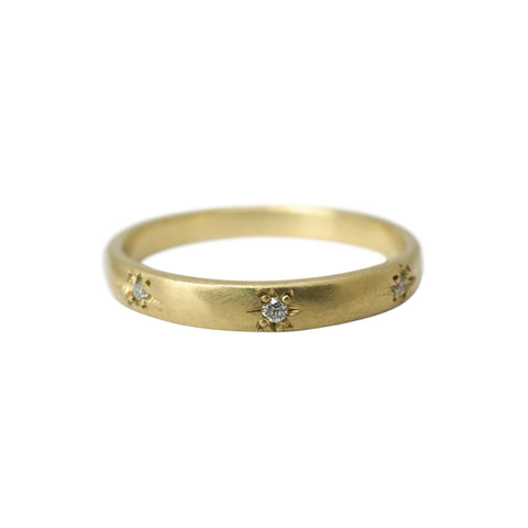 Starry Sky Slim 8 Diamond Band Ring