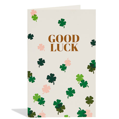Good Luck Clovers Card