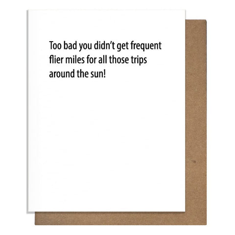 Frequent Flier Birthday Card