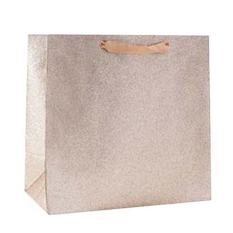 CLEARANCE - Large Champagne Glitter Gift Bag
