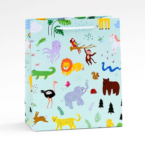 Medium Jungle Animals Gift Bag