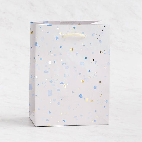 Blue Foil Speckled Gift Bag