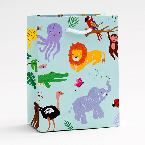 Small Jungle Animals Gift Bag