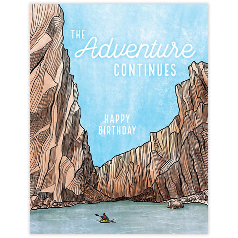 The Adventure Continues Birthday Card