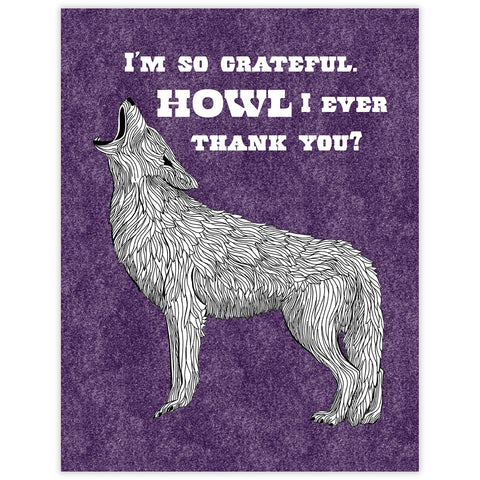 CLEARANCE - Coyote Thank You Card