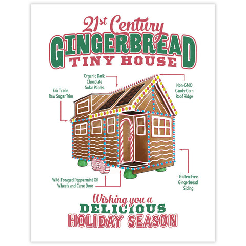 CLEARANCE - Gingerbread Tiny House Holiday Card