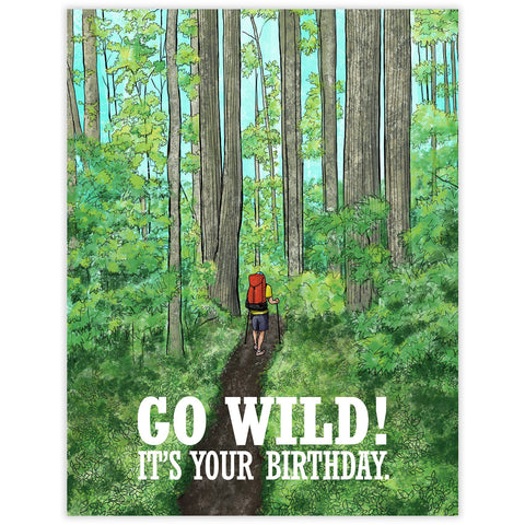 Go Wild Birthday Card