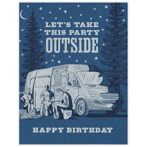 Party Outside Birthday Card