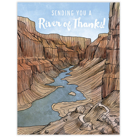 River of Thanks Card