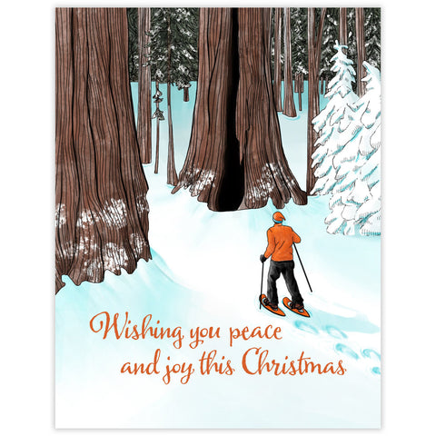 CLEARANCE - Snowshoe Christmas Card