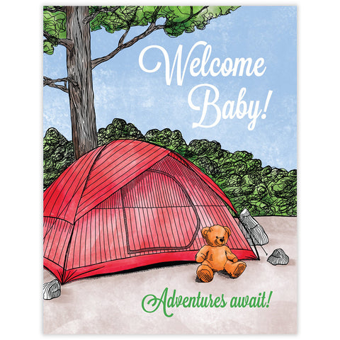 Welcome Baby Tent Card