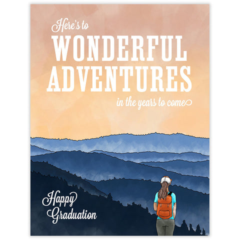 Wonderful Adventures Grad Card