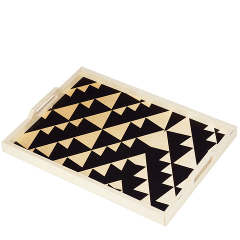 Triangle Print Serving Tray