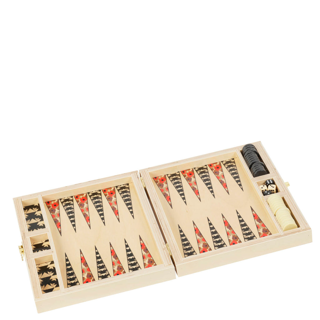 Carmela Poppy Backgammon Set