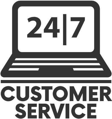 24/7 customer service badge