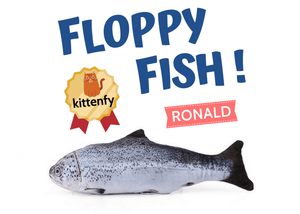 flopping fish cat toy ronald variant