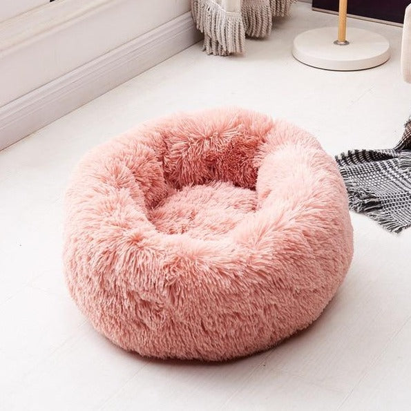 marshmallow cat bed soft pink color
