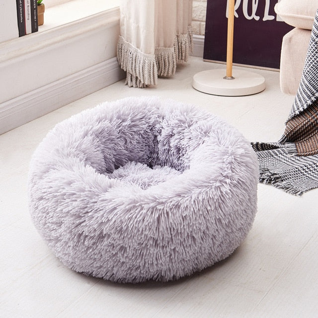 calming pet bed ash color