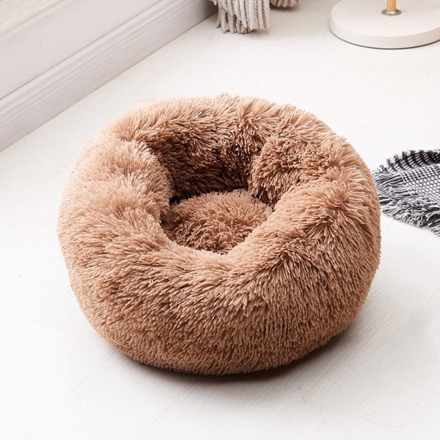 calming cat bed khaki color