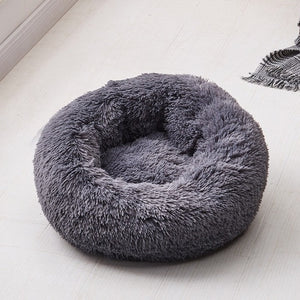 calming dog bed charcoal color