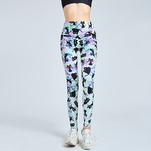 Aqua Cat Leggings