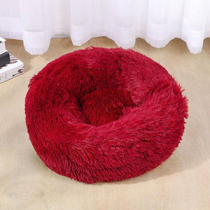 soothing pet bed red color