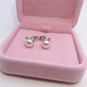 Cat Pearl Earrings