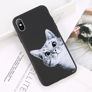 Curious Cat iPhone Case