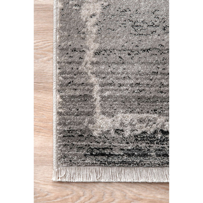 Vintage Ruth Abstract Fringe Rug