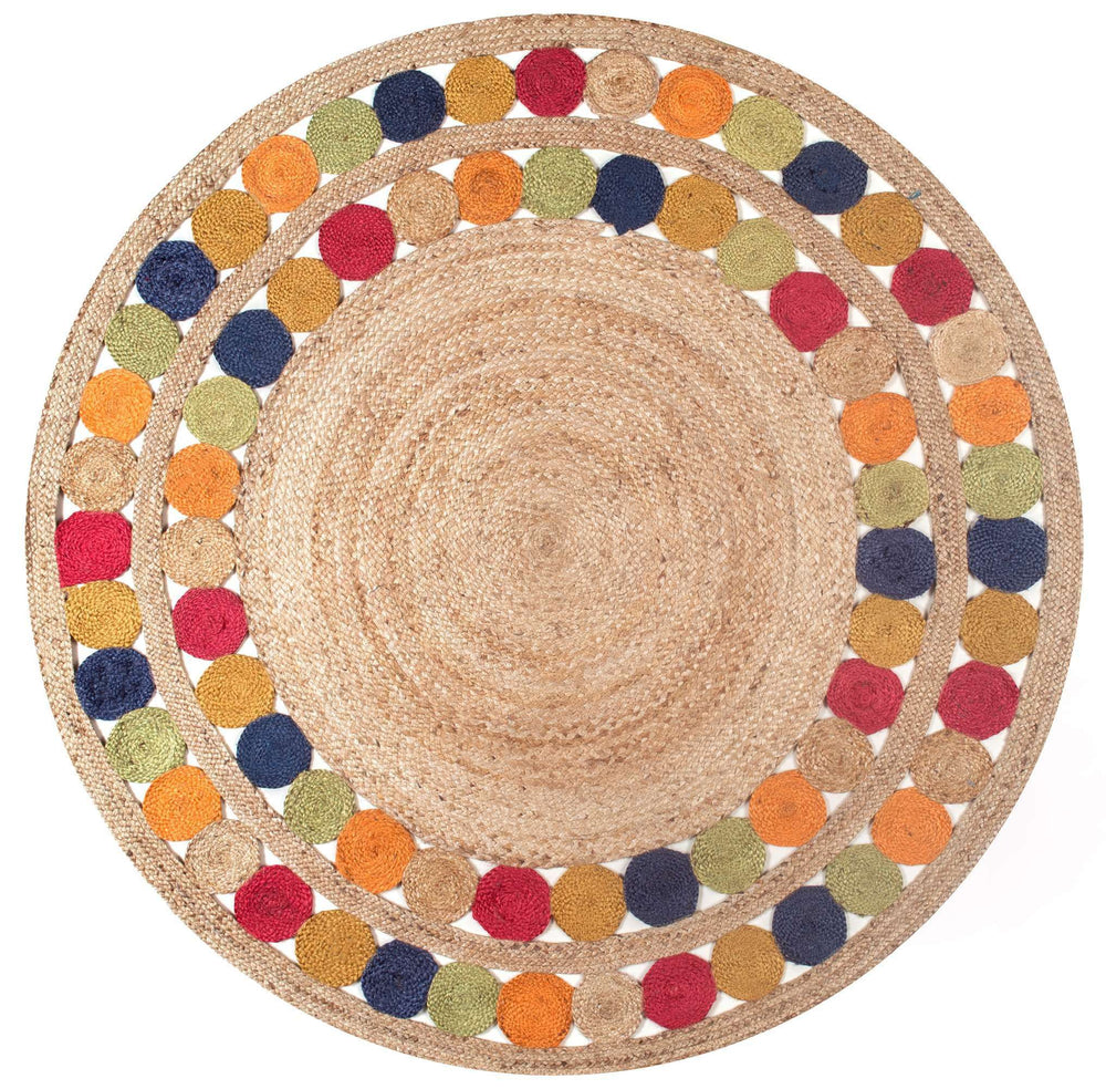 Denita Circles Border Jute