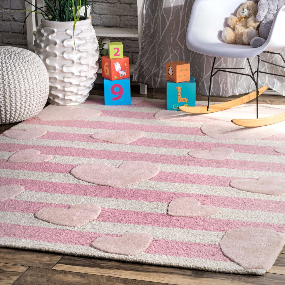 Handmade Hearts Striped Cochran Rug