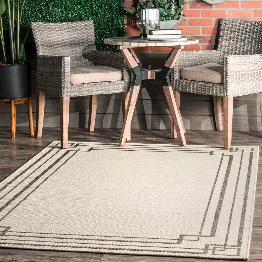 Katalina Modern Bordered Indoor/Outdoor