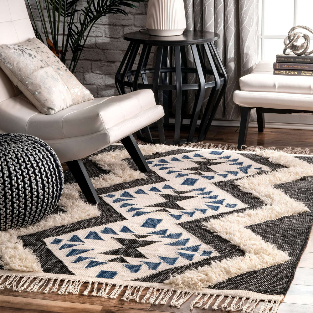 Margie Tribal Fringe Rug