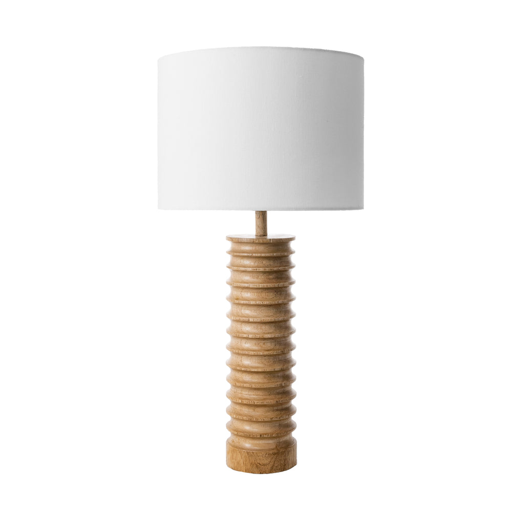 "Durham 25"" Wood Spiral Table Lamp"